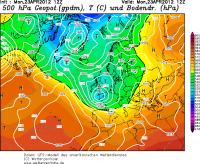 De weerkaarten van eind maart en eind april lijken verdacht veel op elkaar (bron: Wetterzentrale)