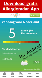 Screenshot Allergieradar App