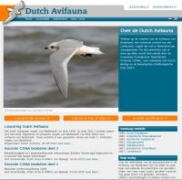 Nieuwe website www.dutchavifauna.nl (foto: Dutch birding)