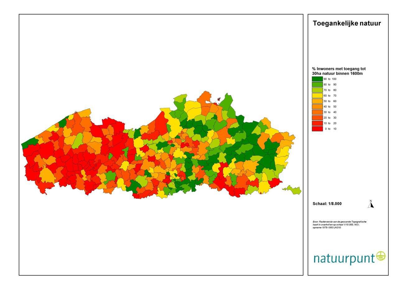 West-Vlaanderen kleurt opvallend rood als het op wandelnatuur aankomt. (foto: Natuurpunt)