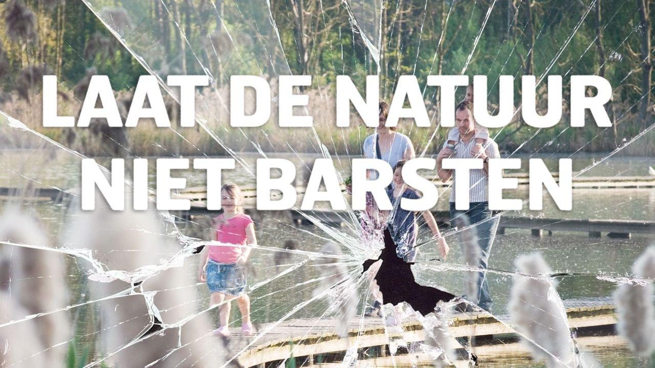 Met de campagne wil Natuurpunt de politici oproepen om de nabije natuur niet te laten barsten. (foto: Wim Dirckx)